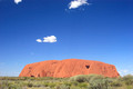 ayers rock during the day